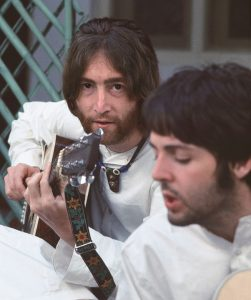 The Beatles opened a door in my psyche. It was a key moment in my life. John was singing Tomorrow Never Knows, and as the lyrics sank in, I knew they were telling me of a journey I had not yet made—of an internal place that held great love and knowing. I love this picture for John's intensity, a hallmark of his immense talent.