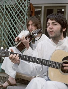 John was at the ashram for about 7 weeks, as was George. Ringo for 2 weeks and Paul was there for 5 weeks. In their time there John and Paul wrote 48 songs, likely their single most creative capsule of time in their illustrious careers.